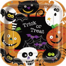 8 Halloween Spooky Smiles Paper Party Plates